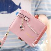 貓咪錢包女短款可愛女生2016韓版小清新搭扣拉鏈學生兩折小零錢包