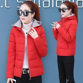 棉服女短款冬季新款韓版連帽面包服寬鬆加厚棉衣外套