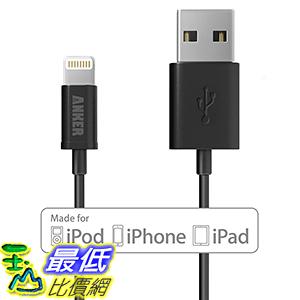 [106美國直購] Anker MFi 1ft/0.3m Extra Short Tangle-Free USB Lightning Cable-Black 充電線 傳輸線