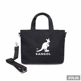 KANGOL 黑色帆布 手提袋-6125170920