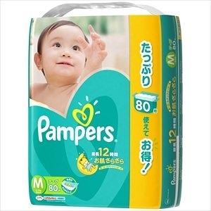 日本 PG Pampers 幫寶適 日本境內 加倍乾爽 黏貼型 巧虎 尿布 6~11kg 80片*3包 (M)【4457】