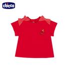 chicco-蘋果-點點蝴蝶結短袖上衣