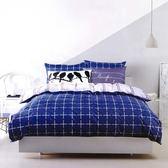 ✰雙人鋪棉床包兩用被四件組✰100%精梳純棉(5×6.2尺)《蘭迪》