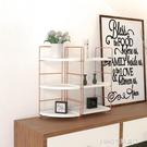 書架 桌面置物架收納架浴室隔板架現代簡約客廳鐵藝三角書架化妝品架子 NMS 1995生活雜貨