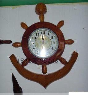 紅木工藝品 鐘錶 50公分