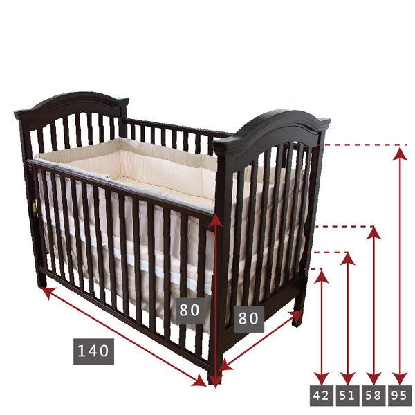 【限量促銷】童心 布朗特美式大床超值組合 嬰兒床