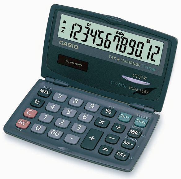 《享亮商城》SL-220TE 掀蓋式口袋型計算機 CASIO