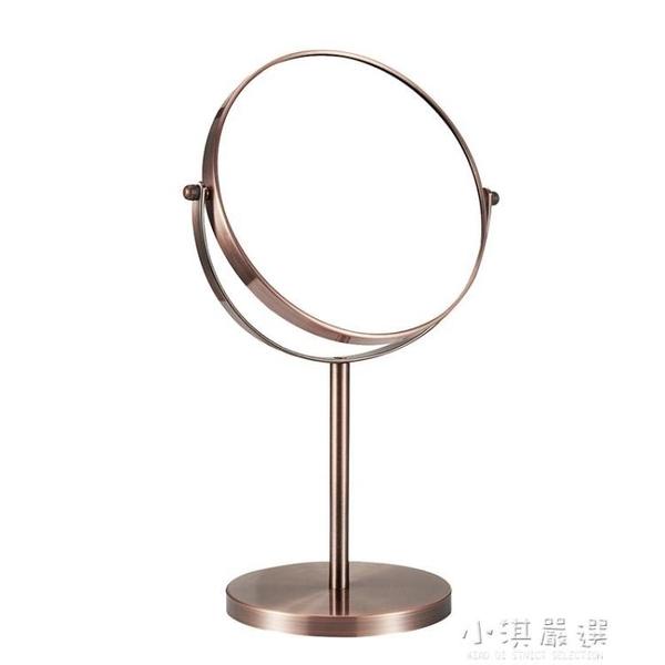 漢九宮歐式高清台式化妝鏡鏡子梳妝鏡雙面鏡公主鏡美容鏡放大桌面『小淇嚴選』