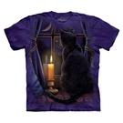 【摩達客】(預購)(大尺碼4XL、5XL)美國進口The Mountain 守夜貓 純棉環保短袖T恤(10416045093a)