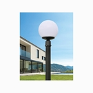 35cm戶外庭園燈 14吋黃球白球 76mm插管 PE塑膠 戶外燈 立燈 可搭配LED 庭園造景 景觀設計 現貨