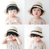 萬聖節狂歡 寶寶女童帽子韓國夏天沙灘帽草帽防曬遮陽太陽帽出游親子母女涼帽 桃園百貨