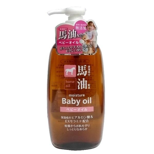 日本製/熊野HO馬油嬰兒油 300ml / 無香料 無色素 /低刺激的礦物油及馬油適合全家人使用