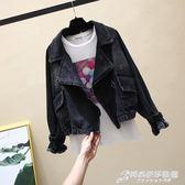 春秋新款韓版寬鬆大碼bf學生百搭港風復古機車牛仔外套女短款夾克 時尚芭莎