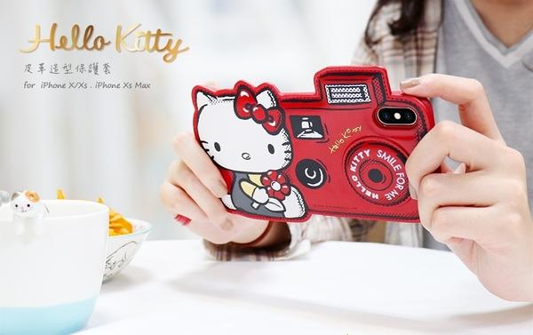 ♥小花花日本精品♥Hello kitty凱蒂貓紅色旅行相機造型皮革手機套手機殼附手繩~預