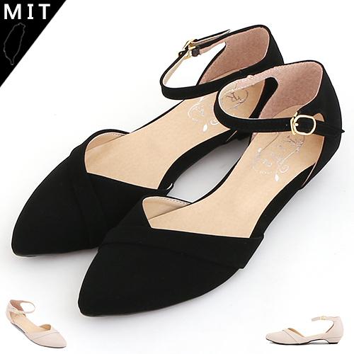 女款 質感皮氣質繞踝低跟鞋 尖頭鞋 MIT製造 59鞋廊