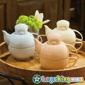 【樂購王】嘿豬豬 台灣獨家代理《粉嫩系列 下午茶悠閒組》環保材質 彩晶瓷【B0752】