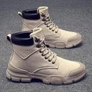 馬丁靴 鞋子高幫馬丁靴男士中幫工裝靴雪地...