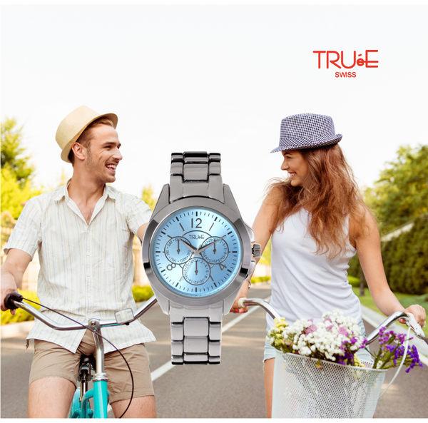 瑞士 TRUE 瑞時寶嘉  TC150194都會雅皮時尚中性腕錶 /37mm (陽光藍)