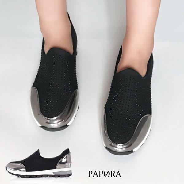 休閒鞋.晶亮一腳蹬休閒鞋【K949】黑