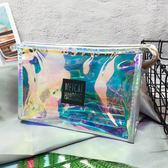 新款鐳射透明化妝包大號女可愛旅行防水洗漱包便攜收納大容量『小淇嚴選』