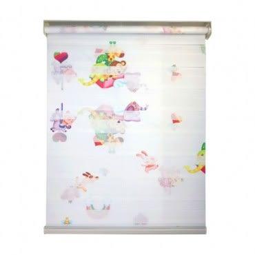 韓國優質KIDS可調光捲簾150x185cm 米