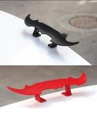 汽車小尾翼迷你改裝免打孔碳纖維尾翼通用裝飾尾翼運動版 萬客居