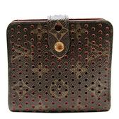 LOUIS VUITTON LV 路易威登 紫紅色原花扣式二折短夾 Compact Zip Wallet 【二手名牌BRAND OFF】