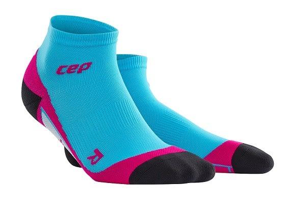 CEP 【歐洲第一品牌】壓縮踝襪  夏威夷藍/螢光粉