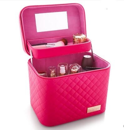 手提化妝品收納盒簡約箱