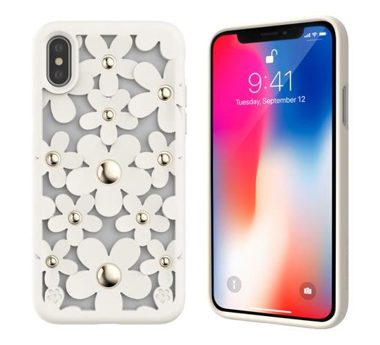 SwitchEasy Fleur iPhone X/Xs/Xs Max 3D花朵吸震防摔保護殼-米白