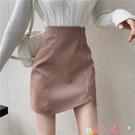 包臀裙 氣質短裙2021年新款時尚春夏高腰小皮裙顯瘦半身裙包臀A字裙子女 愛丫 免運