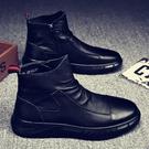 男皮鞋 2021春新款防水鞋男防滑休閒皮鞋工作冬季男鞋【快速出貨八折鉅惠】
