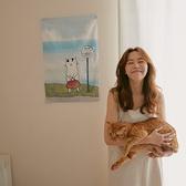 Ms.Cat 居家裝飾 居家 佈置 掛布【V0006】貓小姐海角車站掛布 MIT台灣製 完美主義
