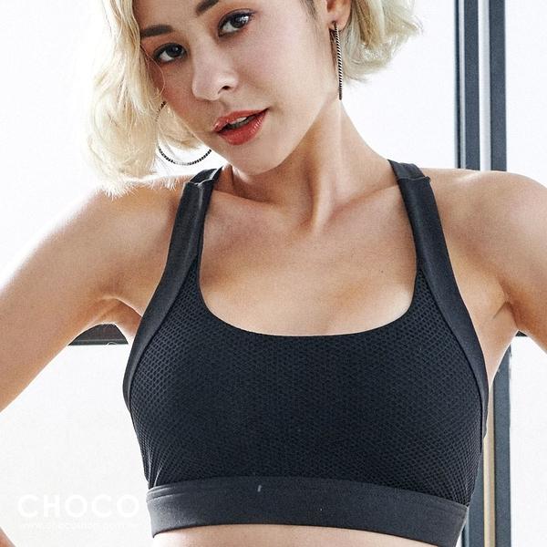 Choco Shop-Sport A計畫‧中強度A字美背運動內衣(黑色) S~XL
