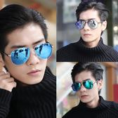 墨鏡 太陽眼鏡 墨鏡男士偏光太陽鏡新款潮人開車司機駕駛蛤蟆眼睛潮個性眼鏡  歐萊爾藝術館