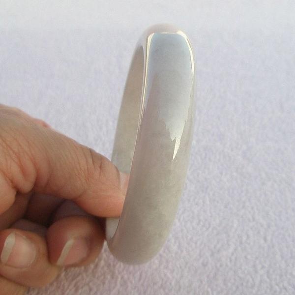 【歡喜心珠寶】【天然緬甸冰種紫羅蘭翡翠手鐲】玉鐲19.2圍.A貨附「保証書」和「寶石鑑定書」
