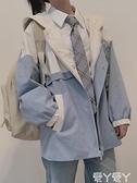 休閒外套 外套女2021秋冬流行新款韓版百搭寬鬆棒球服休閒小個子學院風上衣 愛丫