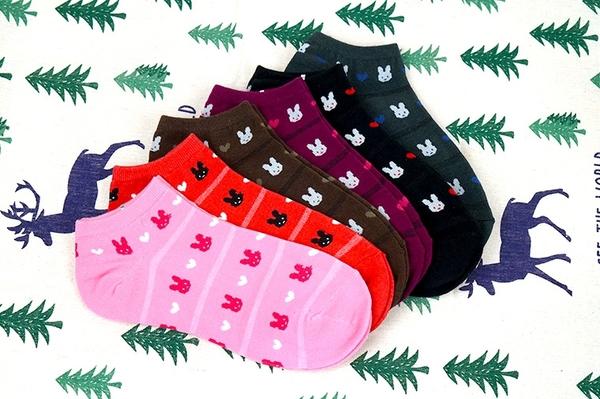 Amiss【極細針】精緻純棉細針提花船襪03(3雙組) 【C023-3】