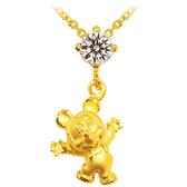 迪士尼系列金飾-黃金項鍊-歡樂米奇款