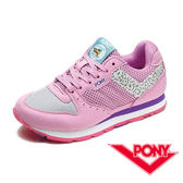 My Foot〔PONY ﹞ SOLA-V 美國系列 女鞋 休閒慢跑鞋-粉紫x銀灰 53W1SO62PK