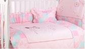 【ViVibaby】迪士尼花朵七件寢具組(米妮粉) DSI26008P