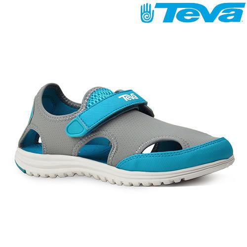 TEVA Kids兒童護趾水陸運動涼鞋Tidepool Sport - 灰藍(中童)