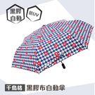 【晴雨用具】GORRANI 3153 (藍)福懋傘布千鳥格彩膠布安全自開收傘 傘具 雨傘 陽傘 遮風 擋雨