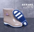 雨鞋 四季雨鞋女短筒成人加絨雨靴時尚防水鞋女士防滑中筒膠鞋套鞋保暖