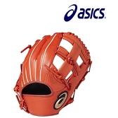 ASICS 亞瑟士 DIVE BGJ8BS-22 少年 兒童 棒球手套 軟式 十字 橘紅[陽光樂活=]