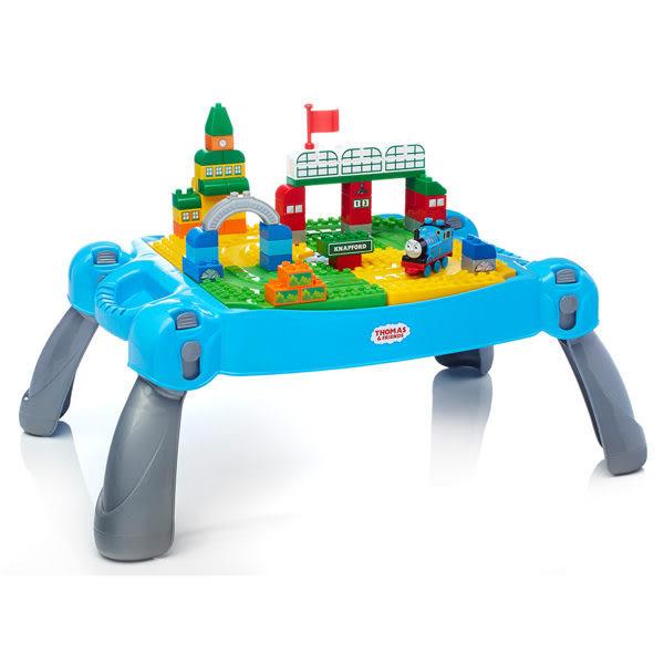 【愛吾兒】MEGA BLOKS 美高積木 湯瑪士小火車 冒險積木桌