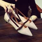 尖頭平底鞋 女淺口單鞋【多多鞋包店】z1650