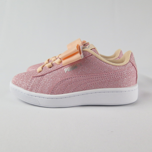 PUMA VIKKY V2 RIBBON GLITZ AC 中童休閒鞋 蝴蝶結 37063402 金蔥粉【iSport】