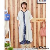 【Tiara Tiara】百貨同步新品ss 開襟式純色短袖洋裝(米白/藍/黃)