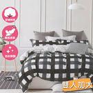 百分百純棉雙人加大三件式床包+枕套組 #1